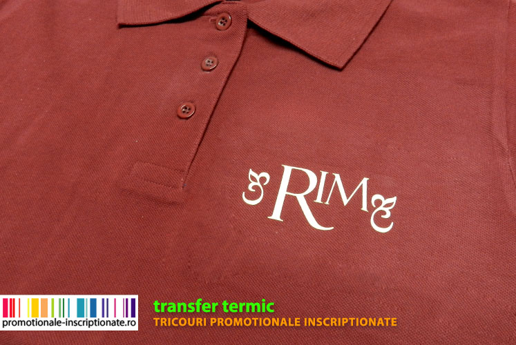 Tricouri inscriptionate prin transfer termic
